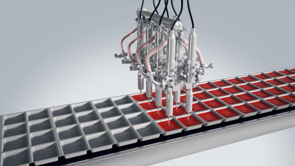 filling deep tray liquid dispensing