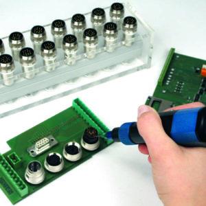 Handheld preeflow eco-PEN potting electronics and print cards